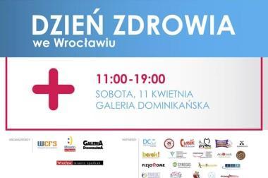Zapraszamy serdecznie na Dzień Zdrowia we Wrocławiu. W godzinach 11:00-19:00 znajdziecie nas w centrum miasta!