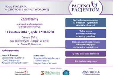 Rusza kampania na temat odżywiania w nowotworach prowadzona przez Polską Koalicję Pacjentów Onkologicznych